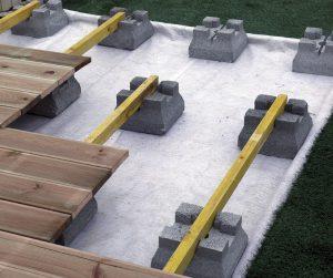 Plot béton pour support terrasses et abris jardin